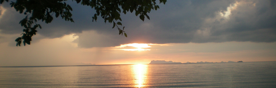 lipa lovely samui / big John seafood - picture: sunset view from restaurant